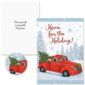 Home For The Holidays Truck Christmas Cards