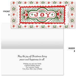 Joyous Christmas Slimline Holiday Cards