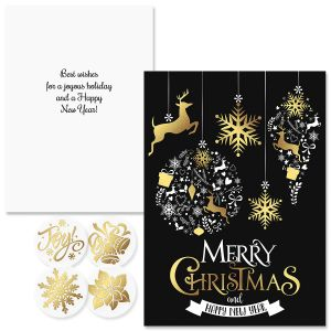 Festive Holiday Foil Christmas Cards