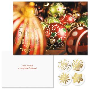 Christmas holiday greeting cards seals colorful images christmas joy foil christmas cards m4hsunfo