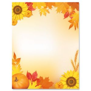 Autumn Harvest Letter Papers