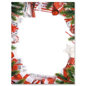 Candy Cane Christmas Letter Papers