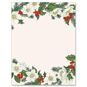 Winter Berries Christmas Letter Papers