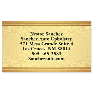 Glistening Gold Business Cards