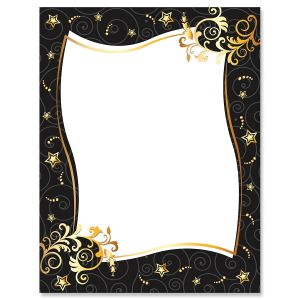Stars & Spirals Letter Papers