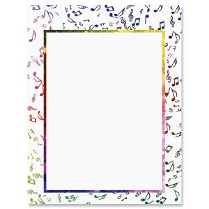 Color of Music Letter Papers