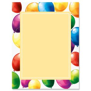 Floating Balloons Letter Papers