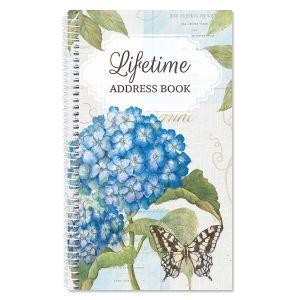 Hydrangea Nature Lifetime Address Book