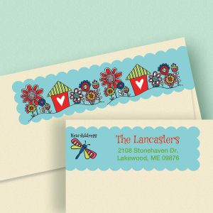 New Address Connect Wrap Diecut Address Labels