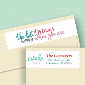 Cheerful Connect Wrap Address Labels
