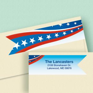 Patriotic Connect Wrap  Diecut Address Labels