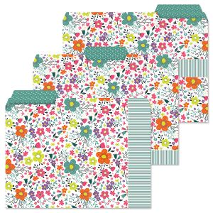 Rainbow Daisies File Folders