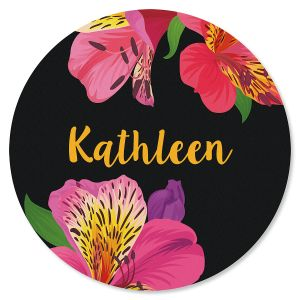 Lily Personalized Round Mouse Pad