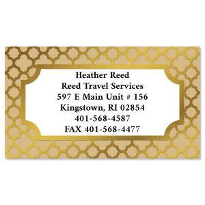Quatrefoil Foil Business Cards