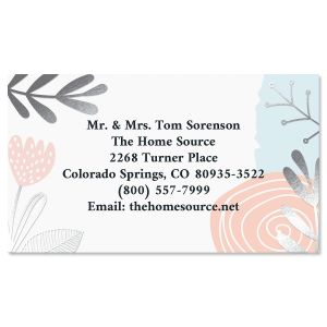 Sprigs Foil Business Cards