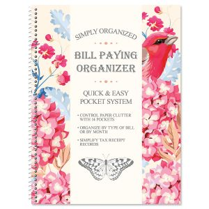 Summer Garden Bill Paying Organizer