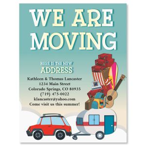 Packed Up New Address Postcards