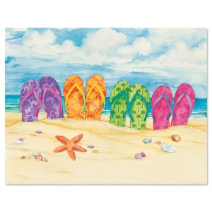 Toes in the Sand Note Cards