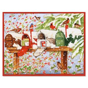 Christmas Mailboxes Note Cards