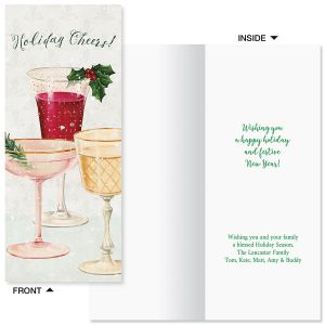 Holiday Cheers Slimline Holiday Cards