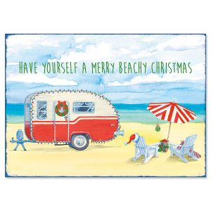 Christmas Beach Camper Christmas Cards