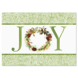 Joy Wreath Christmas Cards