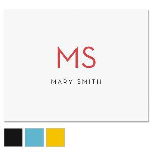Minimalist Monogram Custom Note Cards