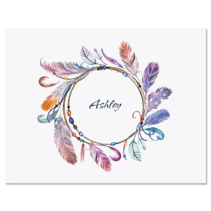 Sacred Watercolor Wreath Custom Note Cards