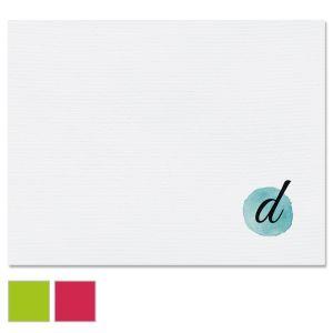 Watercolor Initial Custom Note Cards