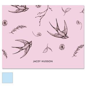 Swallow Pattern Custom Note Cards