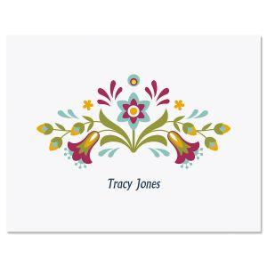 Floral Fiesta Custom Note Cards