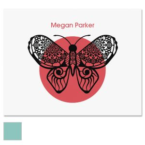 Print Butterfly Custom Note Cards