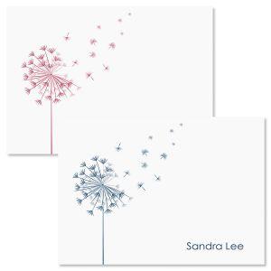 Wispy Dandelion Custom Note Cards