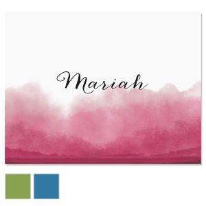Dipped Watercolor Custom Note Cards