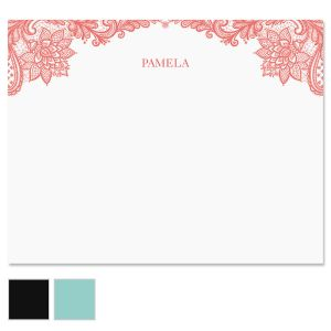 Amelia Lace Custom Note Cards
