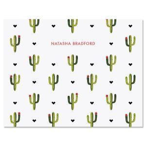 Saguaro Pattern Custom Note Cards