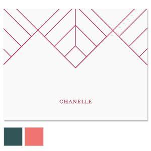 Diamond Lines Custom Note Cards