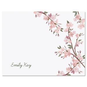 Cherry Blooms Custom Note Cards