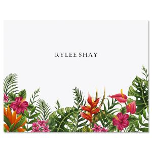 Tropical Foliage Custom Note Cards
