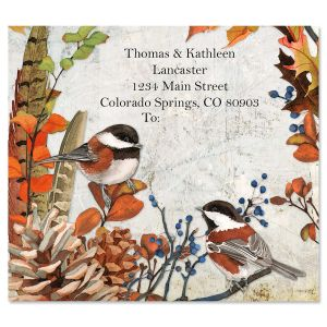 Fall Chickadees Package Labels