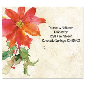 Poinsettia & Holly Package Labels