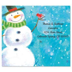 Snowman Package Labels