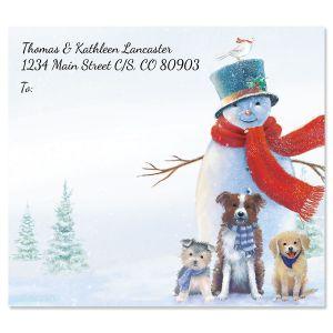Snowman & Friends Package Labels