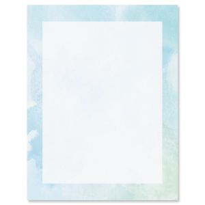 Watercolor Wash Letter Papers
