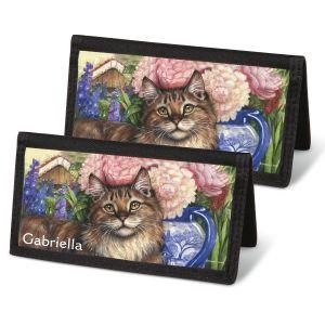 Feline Artistry Personal Checkbook Covers