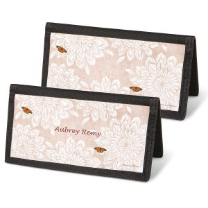 Natural Butterfly Personal Checkbook Covers