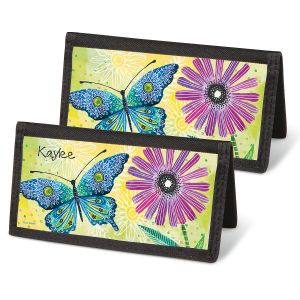 Floral Flight Personal Checkbook Covers