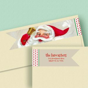 Christmas Ringing Connect Wrap Diecut Address Labels