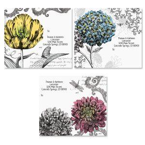 Black & White Botanicals Package Labels