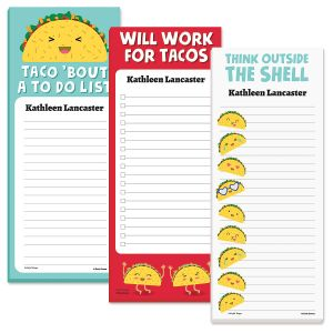 Let's Taco 'Bout It Personalized To-Do Note Memo Pads